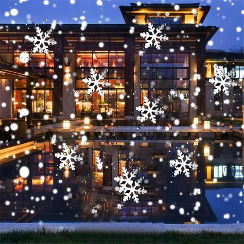 thrisdar movendo neve pesada lampadas do projetor do laser festa de natal do floco de