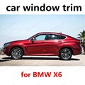hot sell Stainless Steel Car Sill Trim For BMW X6 Car Window Trim Decoration Accessories without column