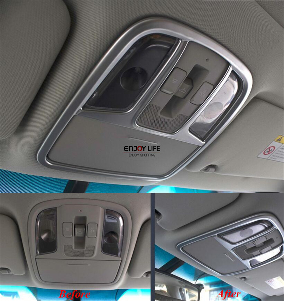 3pcs/set ABS Chrome Car Roof Top Reading Light Lamp Cover Trim For KIA Optima K5 (JF) 2016 2017 high quality chrome head light cover for kia optima k5 2011 free shipping