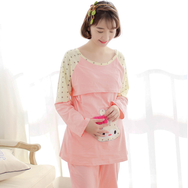 f89a2bffc5f1d Maternity Cute Nursing Pajamas Sets Breastfeeding Clothes Maternity Plus  Size Hospital Sleepwear for Pregnant Women Nursing Gown-in Sleep & Lounge  from ...