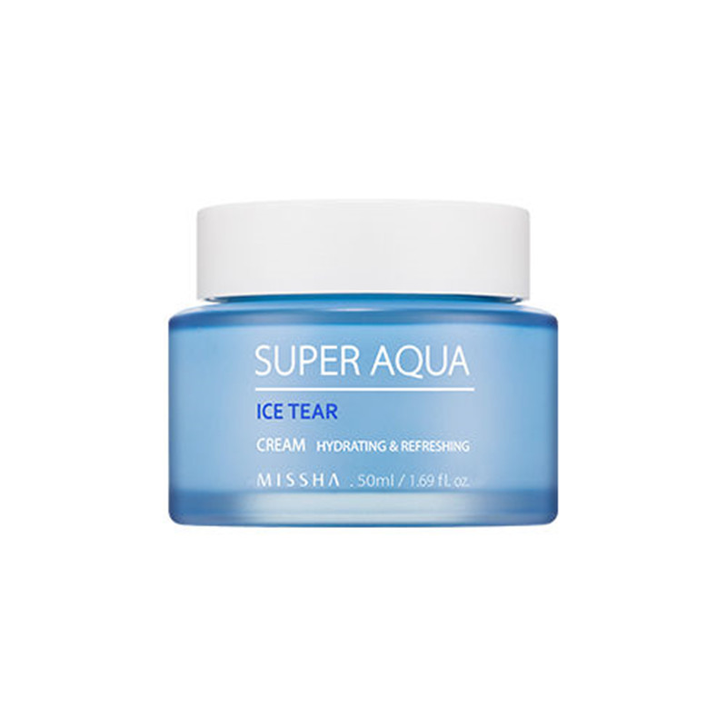 Missha Super Aqua Ice Tear Cream 50ml Moisturizing Hydrating with Deep Sea Water Korea Cosmetics missha m super extreme powerproof eyeliner black
