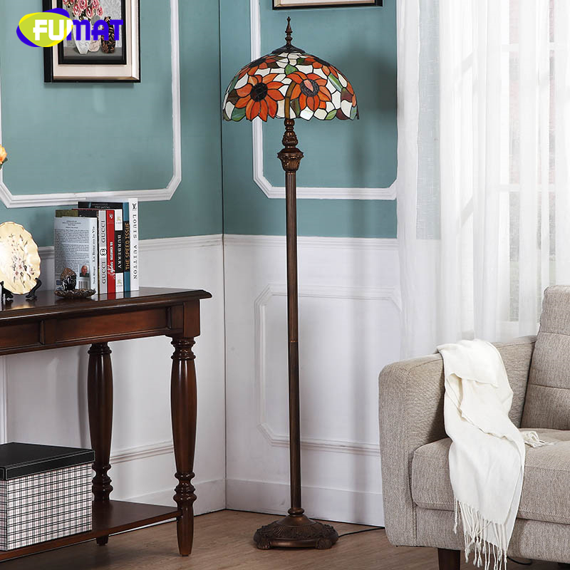 Fumat pastoral sunflower shade floor lamps brief modern stained fumat pastoral sunflower shade floor lamps brief modern stained glass floor lamp for living room art decor led floor lights in floor lamps from lights mozeypictures Images