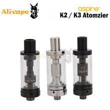 Aspire K2 Tank 1.8ml/ K3 Tank 2.0ML Fit Evod Battery Head Atomizer For Electronic Cigarette Aspire K2/K3 Kit