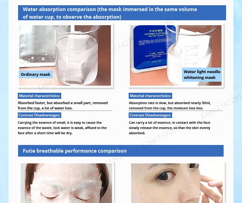 Hyaluronic acid natural silk moisturizing facial masks woman cleansing purifying pores acne whitening face skin care beauty mask 20