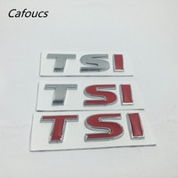 Metal TSI Rear Trunk Emblem Logo Lettering For Volkswagen VW Golf 6 7 GTI Polo