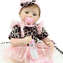 Free Shipping Silicone Lifelike Baby Girl Doll 22 Inches NPK Collectible Reborn Baby Dolls Fashion Cheap Newborn Babies For Sale