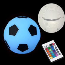 Led-Table-Lamps Ce with RI Remote 1pc D22cm IP54 16-Color-Changing Soccer Romantic Football-Style