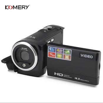 KOMERY HD Video Camera 2.7 Inch LCD screen 16x Zoom Digital Anti-shake Mini Camcorder camara fotografica digital professional