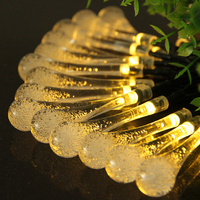 6M Solar LED Holiday String Lights LED RGB Christmas Light Waterproof Outdoor Garden Party Wedding Decor