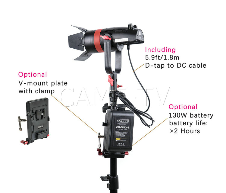 Image 5 - 1 Pc CAME TV Q 55S Boltzen 55w High Output Fresnel Focusable LED Bi Color With Bag-in Photo Studio Accessories from Consumer Electronics