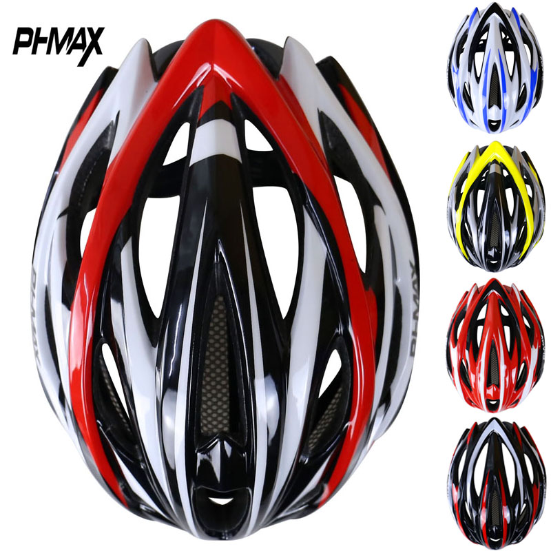 Phmax brand cycling helmet with insect net in mold 25 vents mtb bicycle helmet ultralight bike