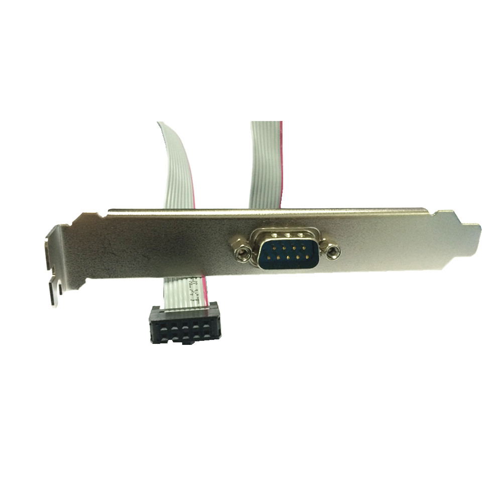 (100pcs/lot) Serial port front panel Soft ribbon cable DB9 port male to 9pin female Motherboard connect to RS232 Plug By DHL