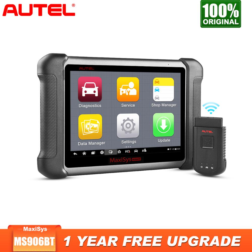 Autel MaxiSys MS906BT OBD2 Scanner Car Diagnostic Tool Key Programmer Auto Tool Full System ECU Coding Better than Launch X431