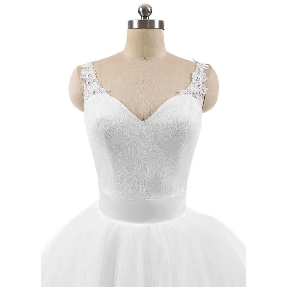 Lover Kiss Wedding Dress High Quality Ball Gowns Sleeveless Sweetheart Lace Body Detachable Train Real Image Vestido De Noiva 4