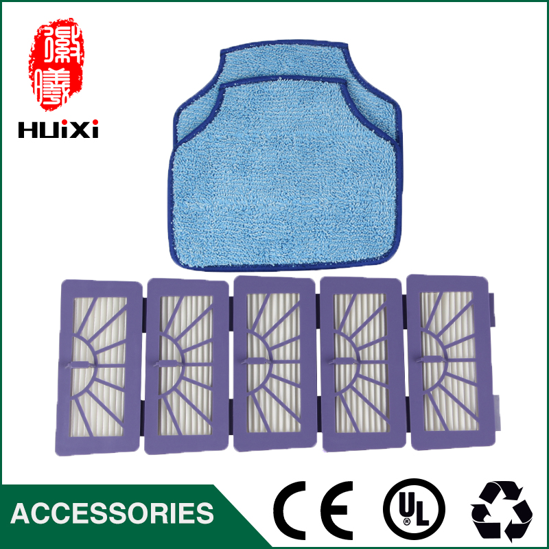Cleaning Mopping Cloth & HEPA Filter Good Quality for Home Clean Robot Vacuum Cleaner Parts forXV-11 XV-12 XV-14 XV-15 XV-21 cheapest 1pcs cleaning mopping cloth 3 pair hepa filter 3 pair cleaner side brush for dt85 dt83 dm81 vacuum cleaner for house