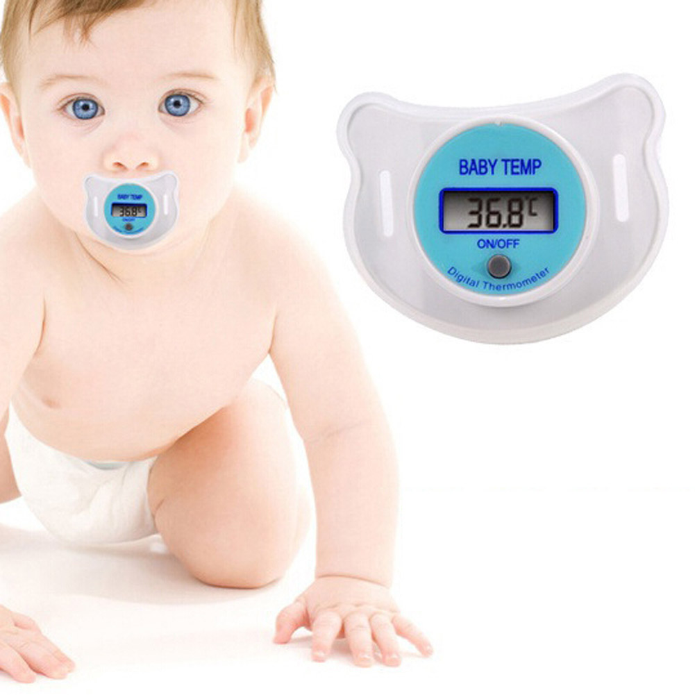 Health 3.5 Digits Monitors Baby Nipple Thermometer Baby Pacifier LCD Digital Mouth Nipple Pacifier Chupeta Termometro Testa