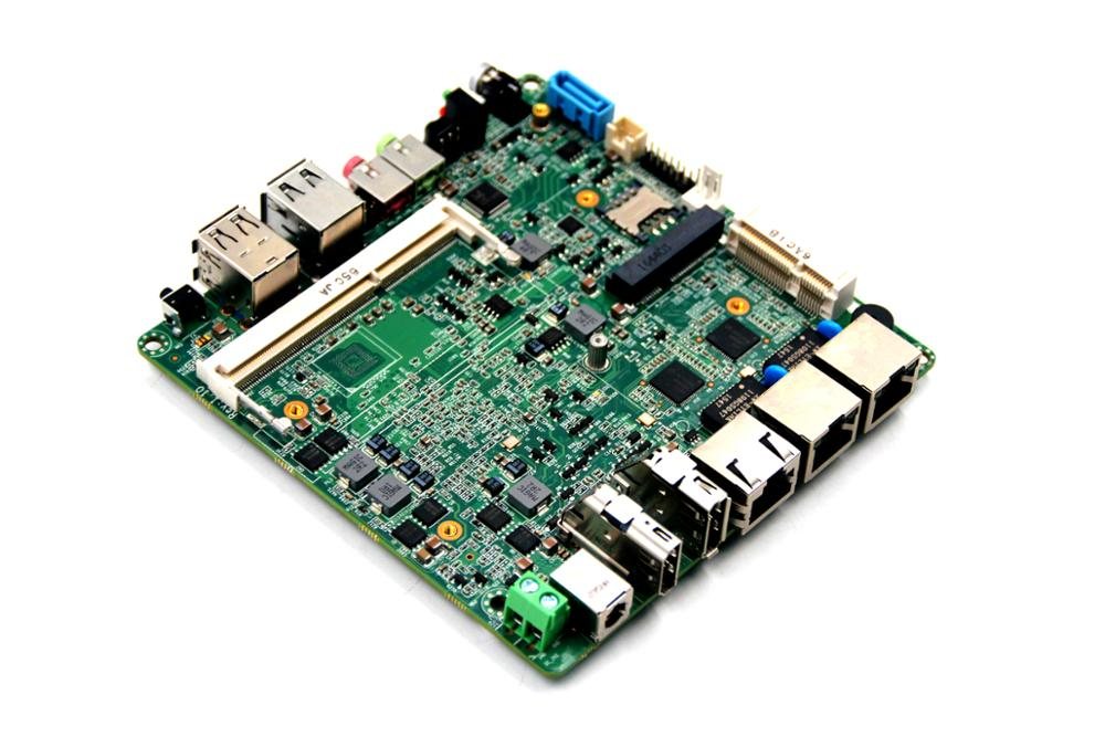 Fanless nano itx motherboard with integrated N2806 processor onboard 32g emmc wavelets processor