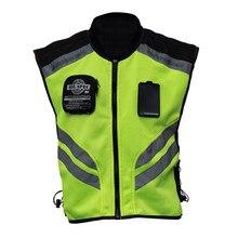 Esportes da motocicleta colete reflexivo alta visibilidade fluorescente equitação colete de segurança corrida sem mangas jaqueta moto engrenagem (xxxl)