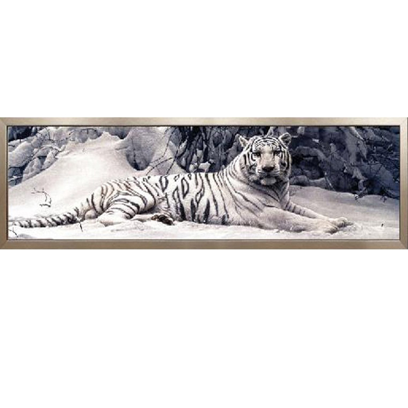 Ricamo diamante 5D Fai Da Te Diamante Pittura A Punto Croce Tigre Bianca Rotonda Diamante Mosaico Animali Dipinti Casa hobby artigianato