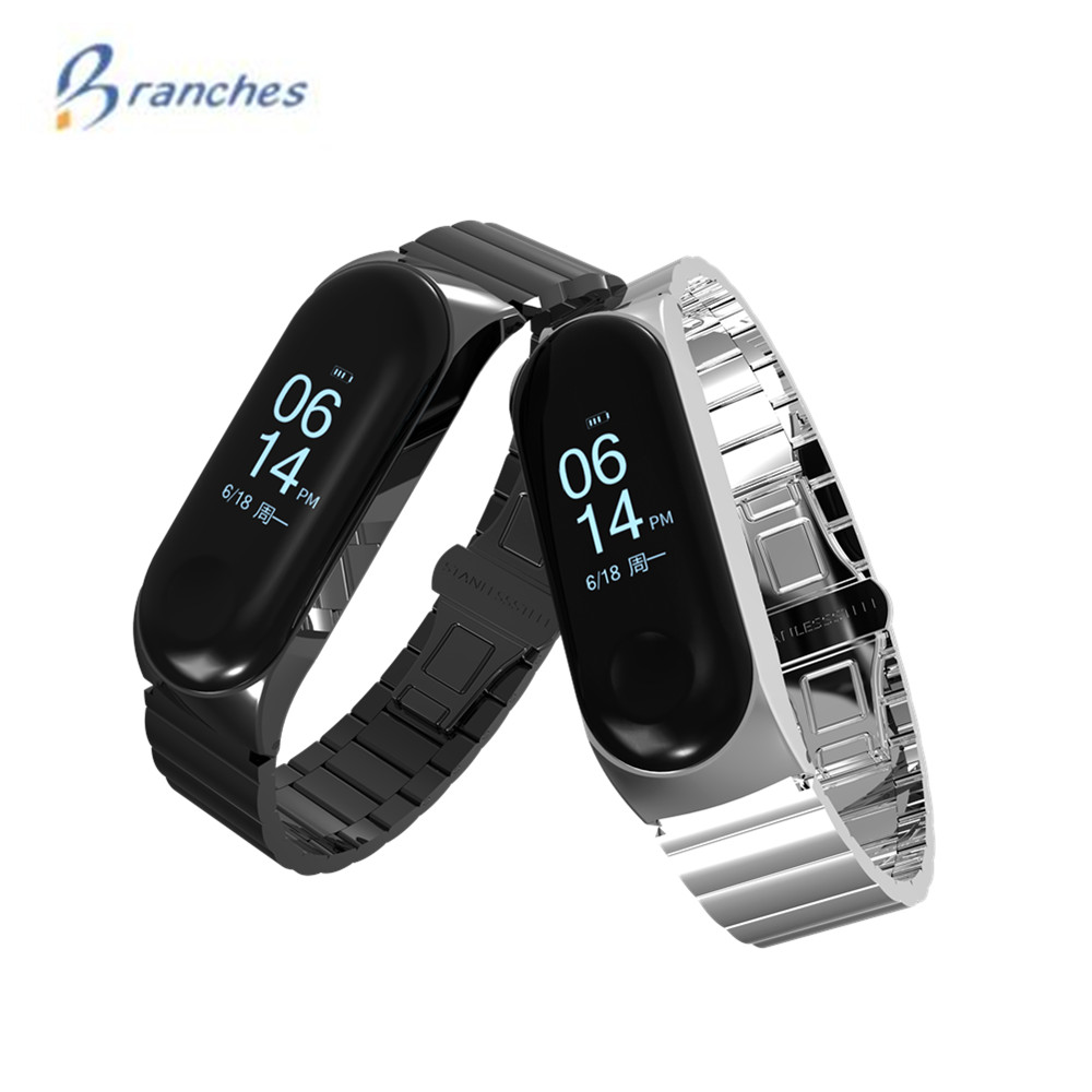 Mi Band 3 Wrist Strap Metal Mi Band 3 Screwless Stainless Steel Bracelet Miband 3 Wristbands Pulseira For Xiaomi Miband3 Strap