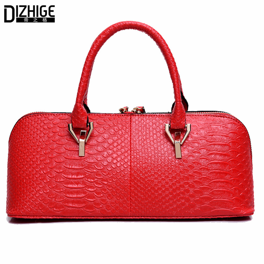 2017 New Fashion Alligator Leather Tote Bag Famous Brand Bags Handbags Women She