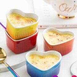Miseczka ceramiczna w kształcie serca porcelanowe zastawy stołowe miska do pieczenia ciasto formy jajko na parze miska mikrofalowa dom mała miska