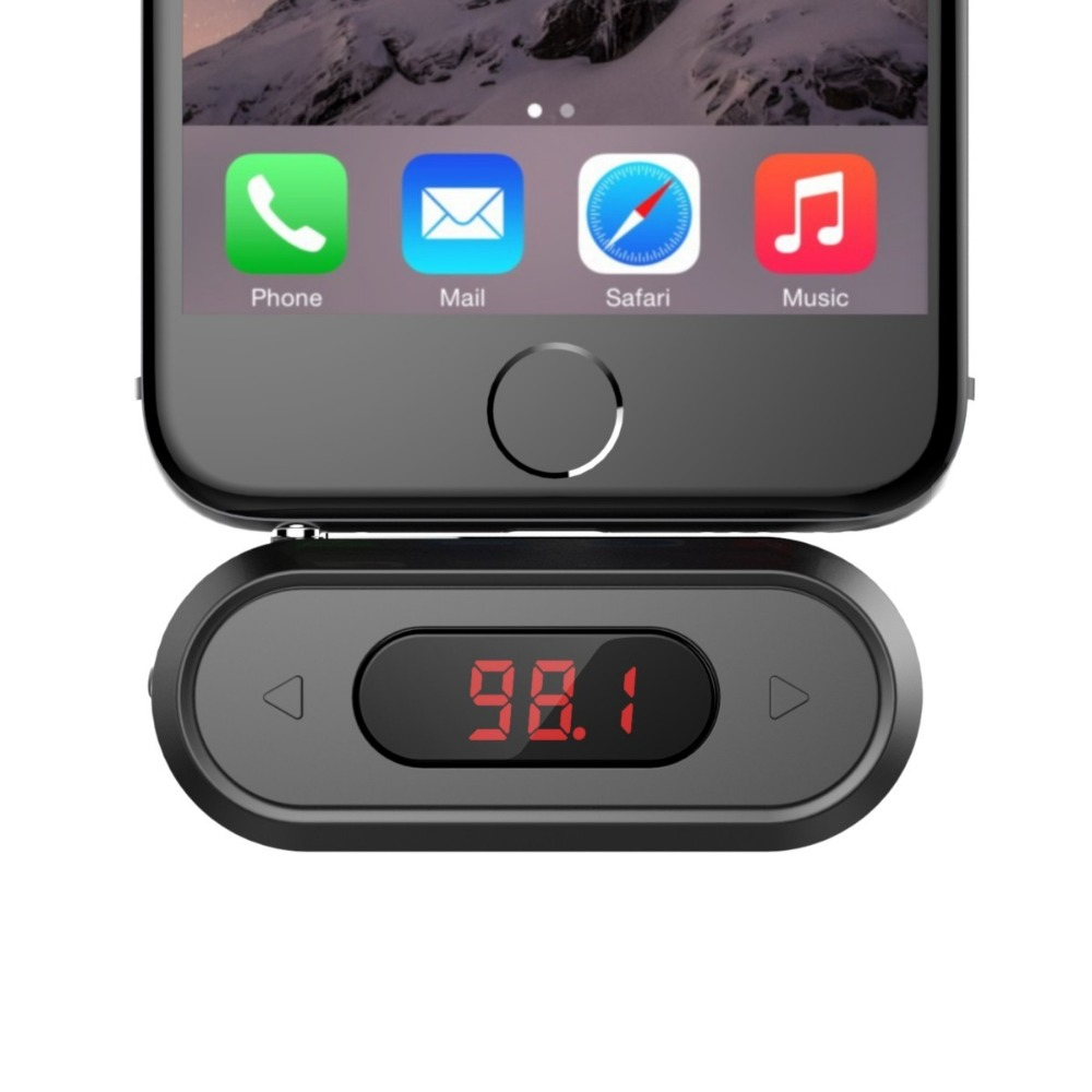 Doosl FM Transmitter Hands-free Calling Wireless Audio Radio Transmitter Adapter 3.5mm Jack for iPhone IOS Android Car Spearker