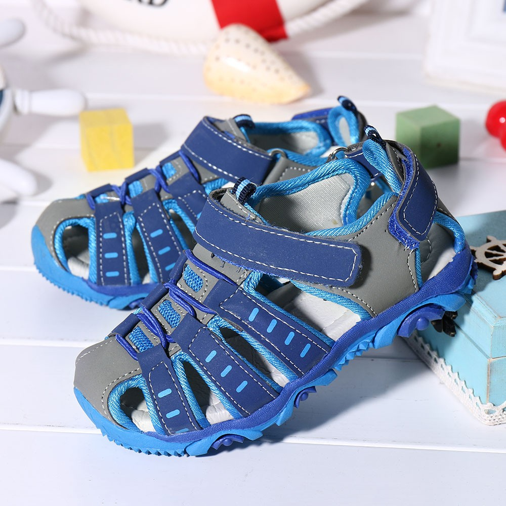 Children's Shoes Boys Sandals 2020 Summer Toddler Baby Boy Closed Toe Casual Sandal Soft Sole Beach Shoes Sneakers #LR3