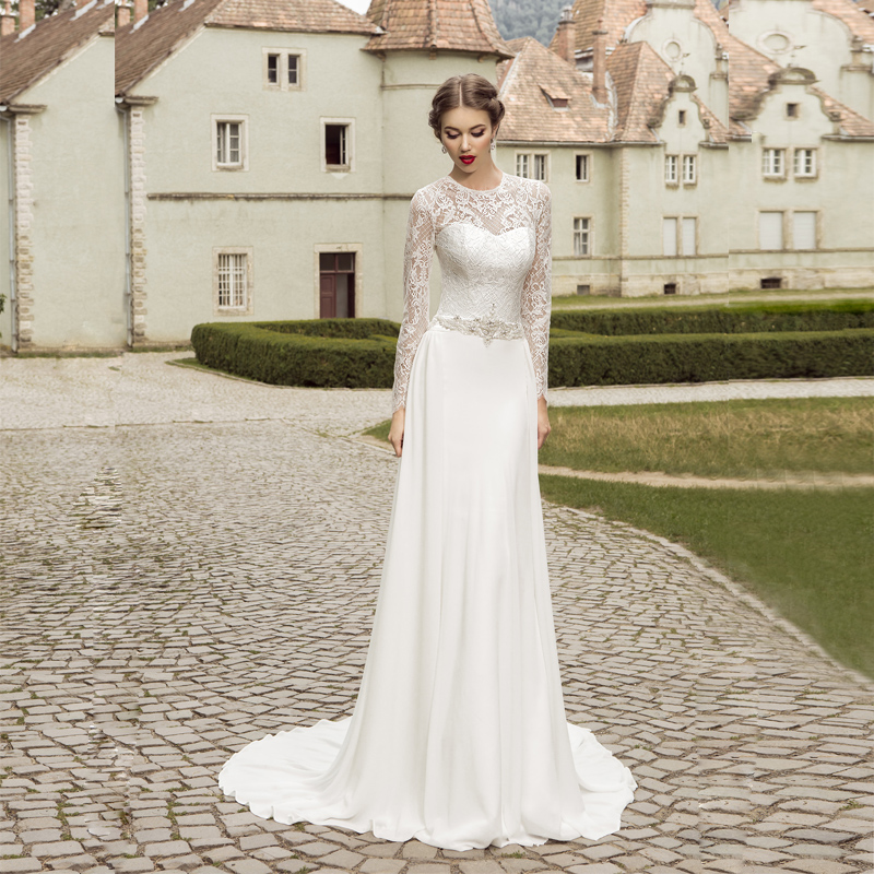 Simple Elegant Open Back Long Sleeve Wedding Dress: Aliexpress.com : Buy Vnaix FW004 Elegant 2016 Lace Long