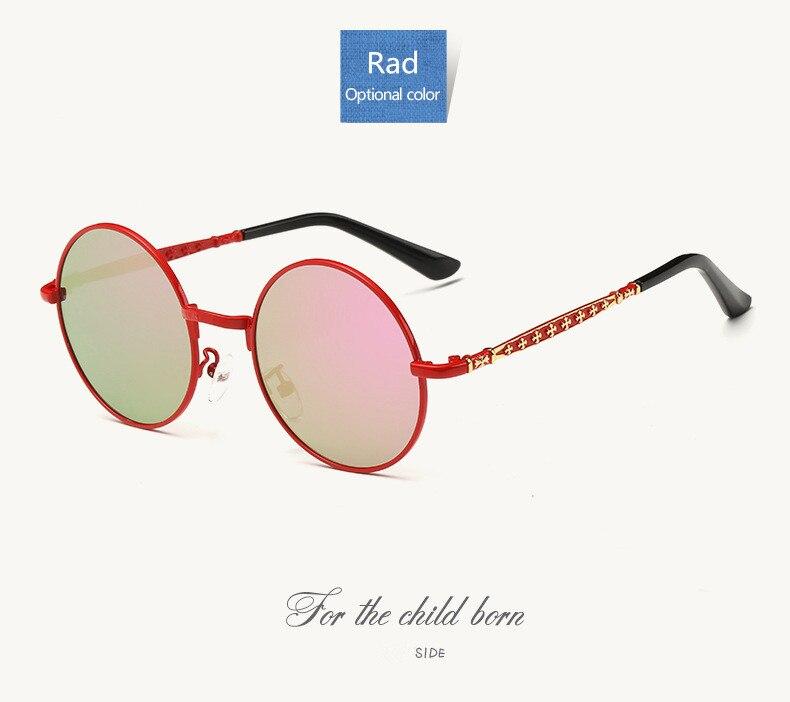 5379d5087c9 Brand Designer Metal Kids Sunglasses Polarized Girls Boys UV400 ...