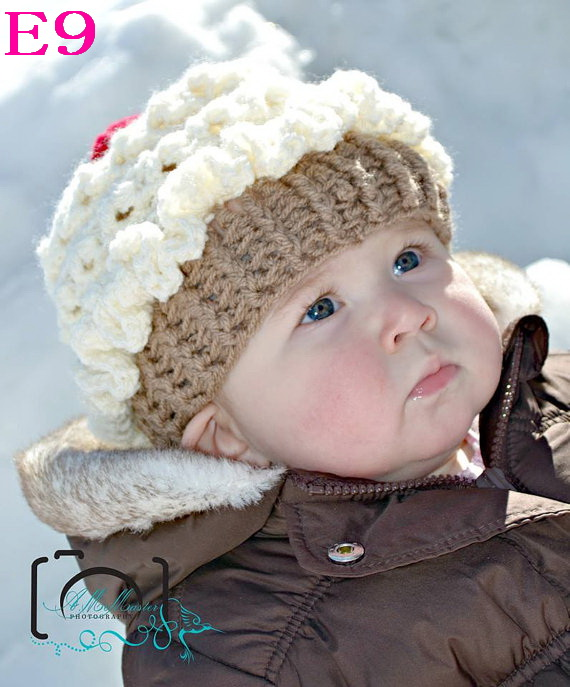 Free shipping New Style Crochet Baby Hat Handmade Cupcake Hat crochet Baby Beanie 100pcs/lot