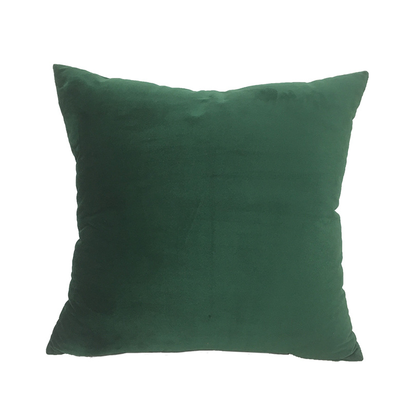 Soft Emerald Green Velvet Pillow Case Cushion Cover Dark