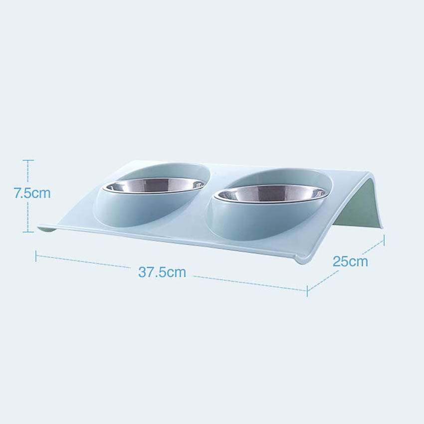 Bowls Pet Puppy Stainless Steel Food Water Non Spill - Zoobig