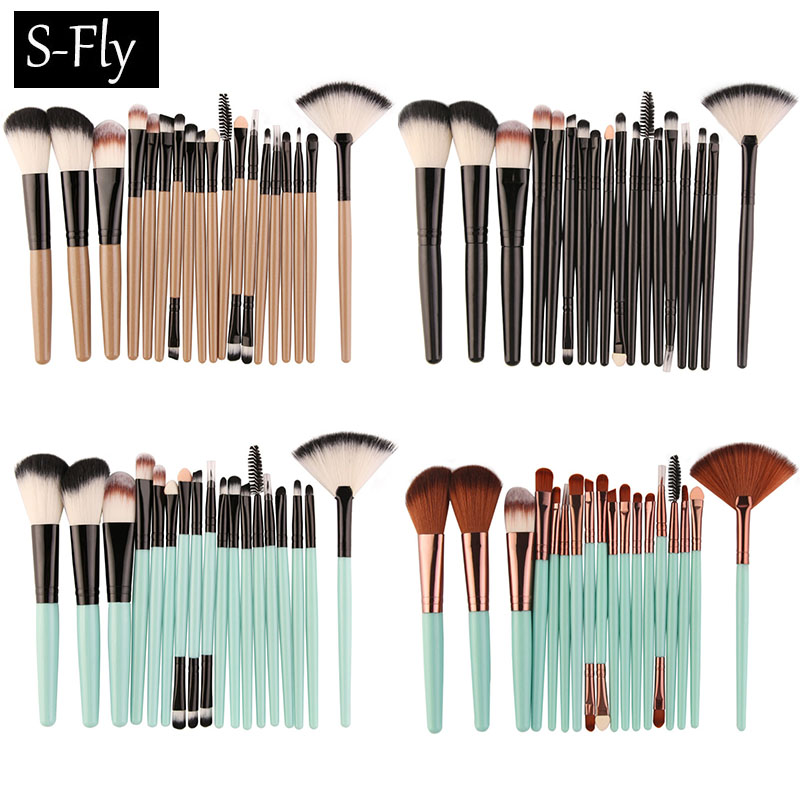 18 Pcs Cosmetic Makeup Brushes Set Blush Powder Foundation Eyeshadow Eyeliner Lip Blending Make up Brush Beauty Tools Maquiagem 20 sets makeup brush set foundation liquid powder eyeshadow eyeliner lip concealer blending brush beauty fish cosmetics tools