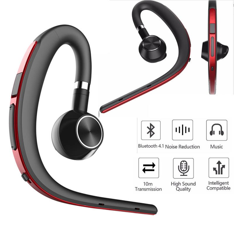 2019 New Fashion Men Business Hands Free Noise Cancelling Earphone Wireless Bluetooth Sports Headset With Mic For Phone Driving