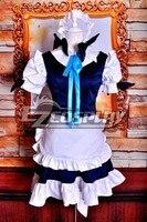 Touhou Project Izayoi Сакуя горничной Косплэй костюм делюкс версия E001