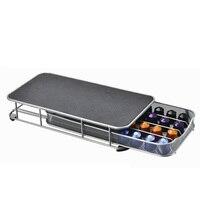 Exquisite Coffee Capsules Organizer Practical Coffee Pod Holder Storage Drawer for 40pcs Nespresso Capsules