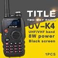 (1 pcs) preto protable rádio ksun uv-k4 dual band vhf uhf dois sentidos rádio para baofeng uv-5r/baofeng uv-82 walkie talkie