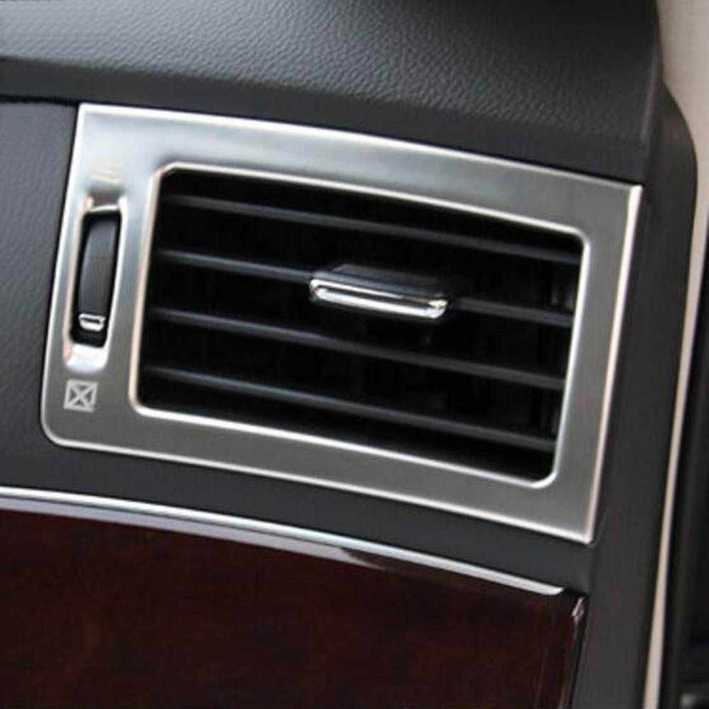 02cdb5dca05 ... Front console dashboard air conditioner outlet vents decorative cover  trim sticker for Infiniti Q70 q70L Interior ...