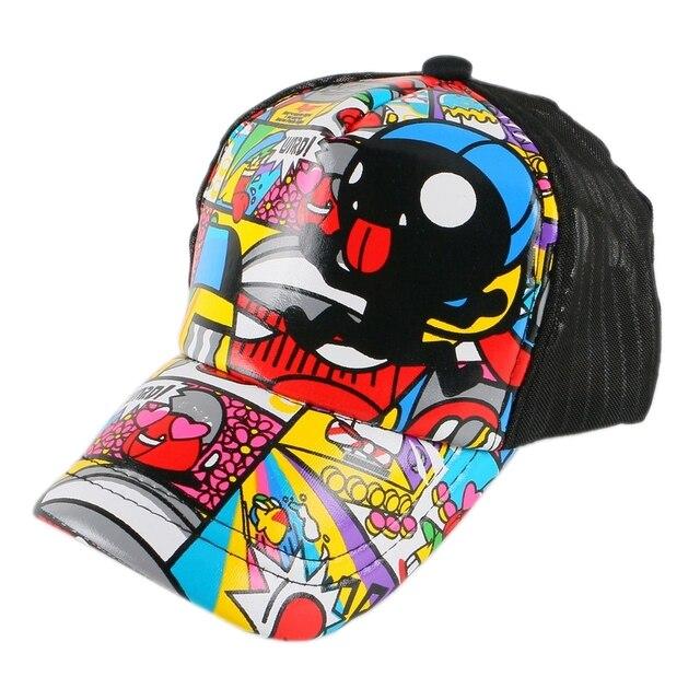 new fashion children summer baseball cap cartoon character design hip hop  hats 3 to 12 year old girl boy kids lovely snapback 6aa6487eb087