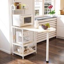 A2 креативный стеллаж для микроволновой печи, многофункциональный стол для хранения духовки, кухонный ежедневный шкафчик для хранения, органайзер для посуды, мебель