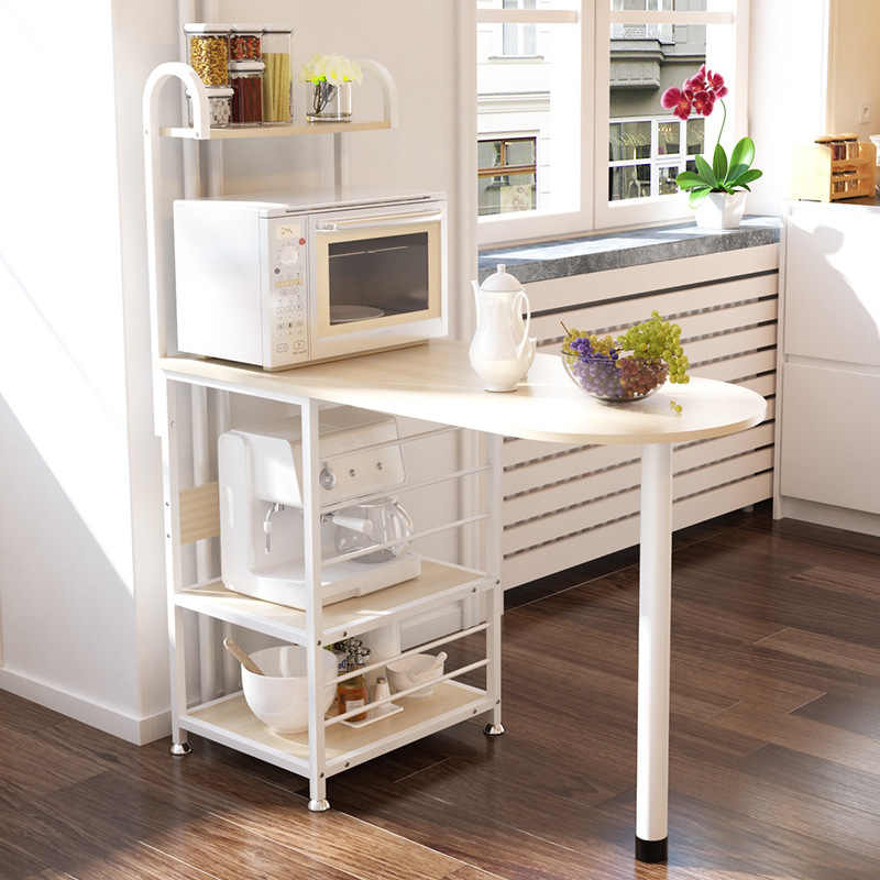 A2 Creative Microwave Rack Multi Function Oven Storage Dining Table Kitchen Daily Storage Locker Dinnerware Organizer Furniture