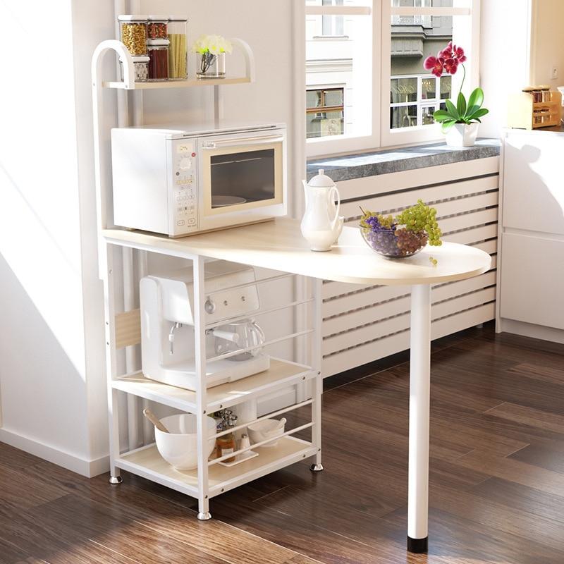 >A2 Creative Microwave Rack Multi Function Oven Storage Dining Table <font><b>Kitchen</b></font> Daily Storage Locker Dinnerware Organizer Furniture