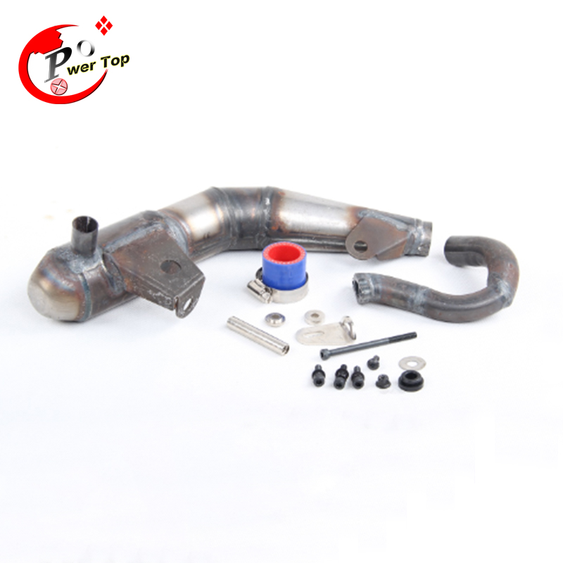 Silent silencer exhaust pipe tuned pipe For 1/5 LOSI 5T Parts HPI Ravan rc car high speed tube sonic version silencer exhaust pipe r2 for 1 5 losi 5ive t parts