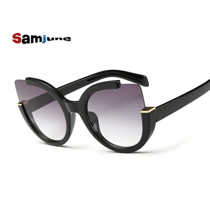 Samjune Luxury Cat Eye Sunglasses Women Brand Designer Vintage Fashion Driving Solbriller For Damer Oculos De Sol Feminino