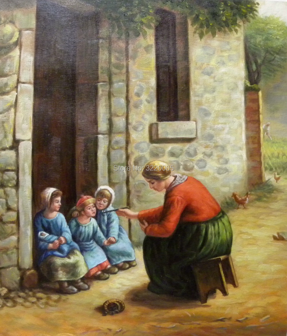"""Oil Painting Copying Of World Famous Paintings """"mother And"""