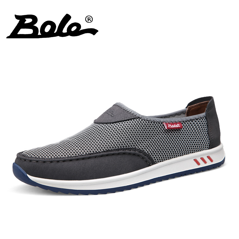 BOLE Design Superstar Mesh Shoes 2017 Summer Casual Men Shoes Breathable Shoes Man Slip on Flats