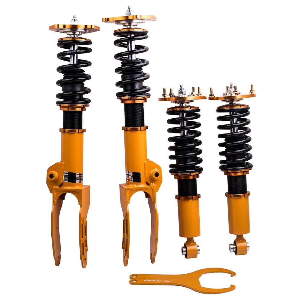 US $389 22 22% OFF|Adjustable Damper Coilover Suspension Kits For PORSCHE  CAYENNE 02 10 Coilovers Shocks Absorber Strut Top Mount Front Rear-in Shock