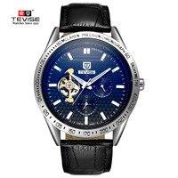 2017 NEW Male Watches Men Luxury Brand Automatic Mechanical Wrist Watch Man Tourbillon Hollow Waterproof Luminous
