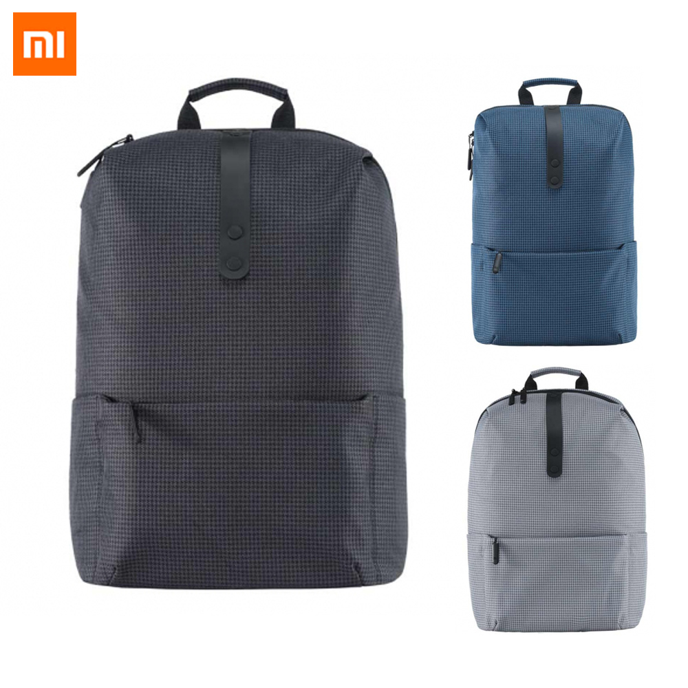 2017 New Xiaomi Fashion School Backpack Bag 600D Polyester Durable Bags Suit For 15.6 Inch Laptop Computer image